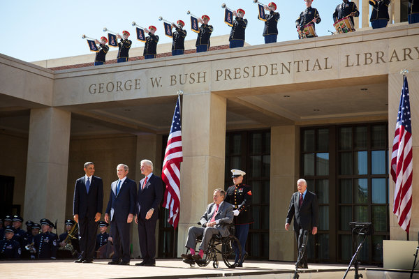 Texas Welcomes Five Presidents for Opening of George W Bush