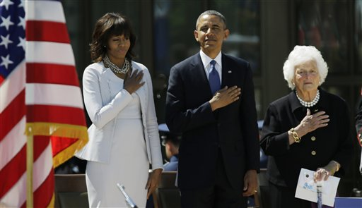 Michelle Obama At George Bush Library
