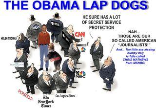 MEDIA obama lap dog press