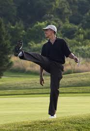 Obama Golf Rockette